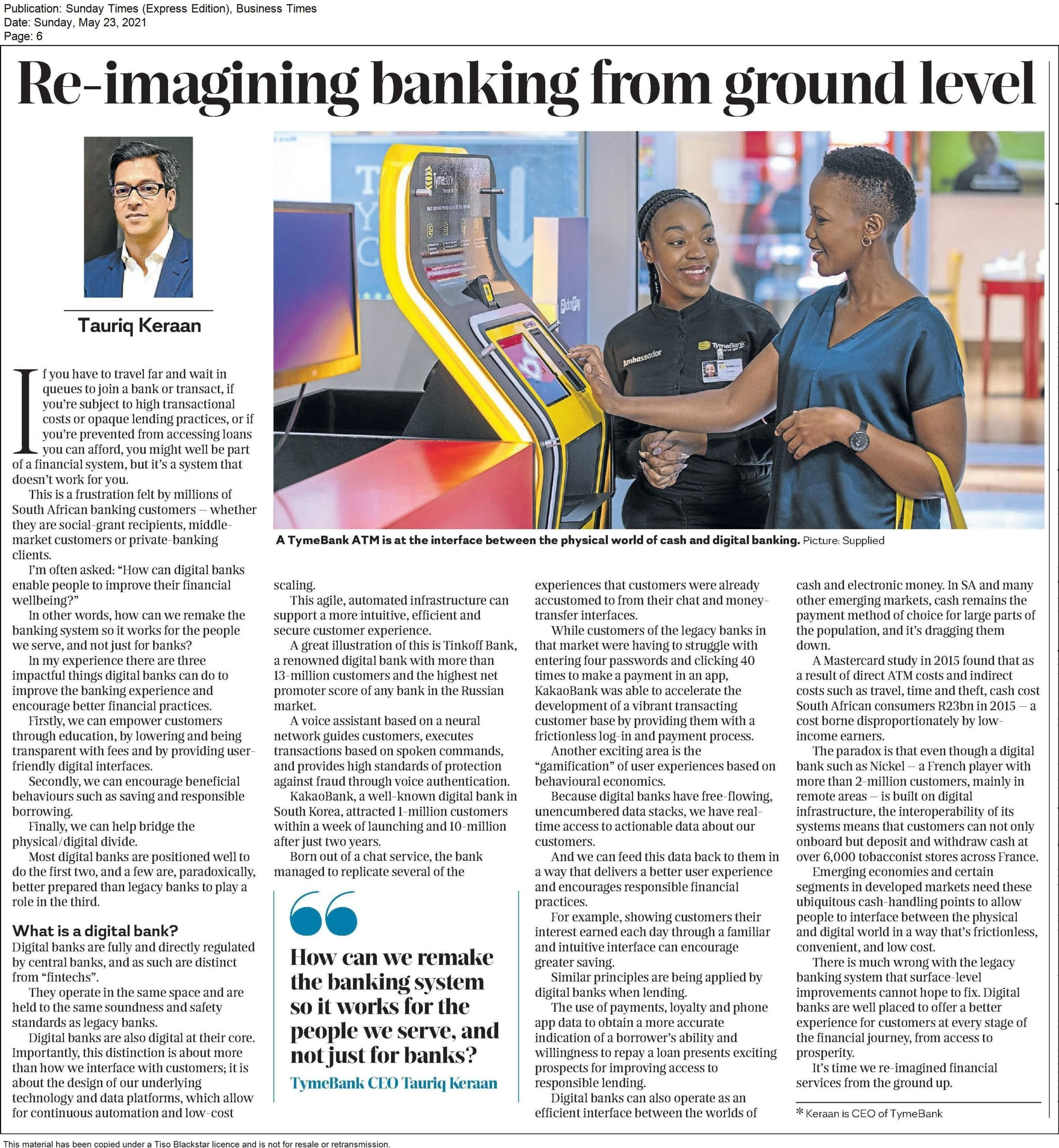 Re-imagining banking from ground level